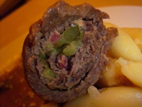 Stuffed beef roulades