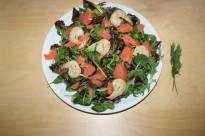 Seafood on salad