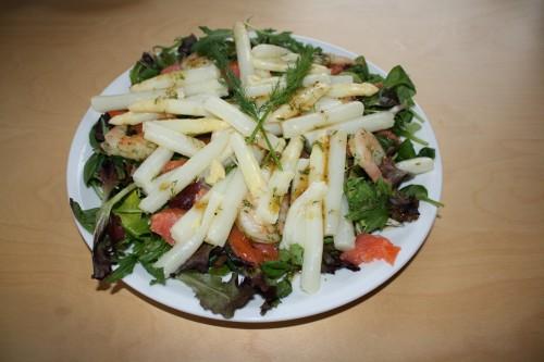 White Asparagus salad