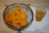 Peaches and peach juice