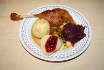 Christmas goose with side dishes