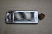 A Nutmeg and a grater.