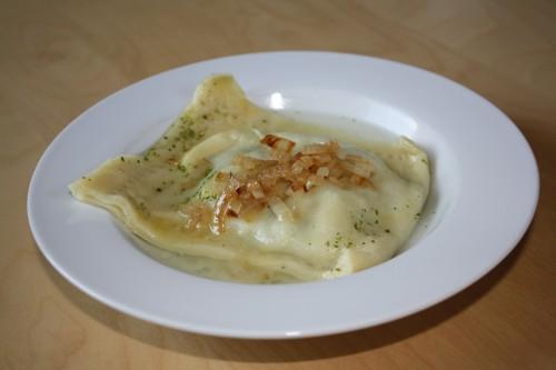 Suppenmaultaschen or pasta pockets
